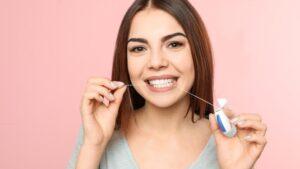 Floss dentures